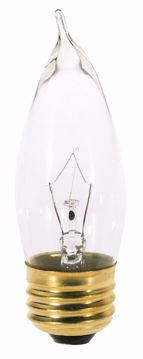 Picture of SATCO A3664 25W TT Standard Clear 130V Incandescent Light Bulb