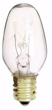 Picture of SATCO S3902 7C7 CLEAR 130V. Incandescent Light Bulb