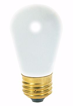 Picture of SATCO S3966 11S14 Frosted Incandescent Light Bulb