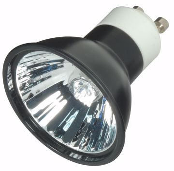 Picture of SATCO S4183 FMW/B/GU10 38' 35MR16 BLK LENS Halogen Light Bulb