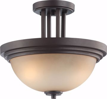 Picture of NUVO Lighting 60/4127 Harmony - 2 Light Semi Flush Fixture with Saffron Glass