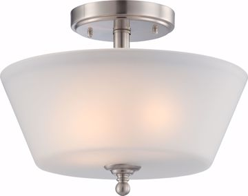 Picture of NUVO Lighting 60/4151 Surrey - 2 Light Semi Flush Fixture with Frosted Glass