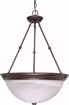 """Picture of NUVO Lighting 60/212 3 Light - 20"""" - Pendant - Alabaster Glass"""