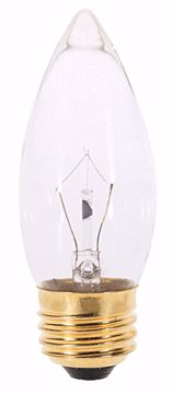 Picture of SATCO A3631 25W Torpedo Standard Clear 130V Incandescent Light Bulb