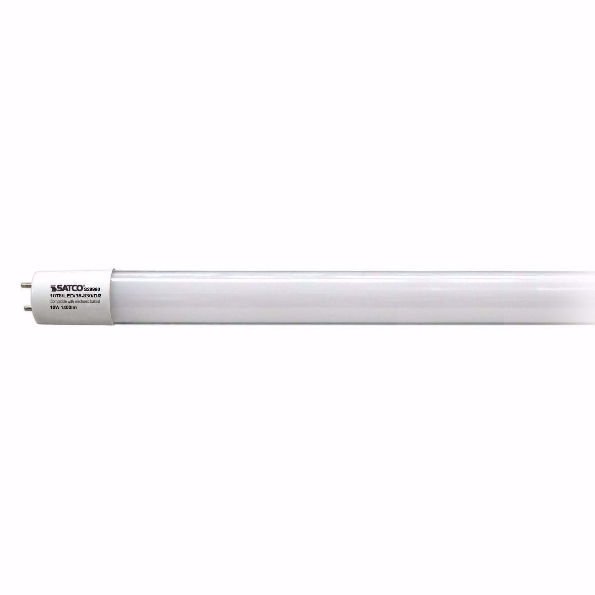 "Picture of SATCO S 29990 10T8/LED/36-830/DR 36"" LED Light Bulb"