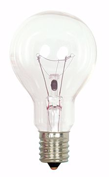 Picture of SATCO S2744 40A15/CLEAR 120V INT 2/CD Incandescent Light Bulb