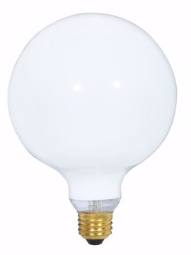 Picture of SATCO S3002 60W G-40 WHITE Incandescent Light Bulb