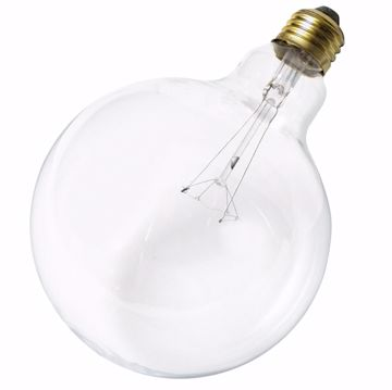Picture of SATCO S3010 25W G-40 CLEAR Incandescent Light Bulb