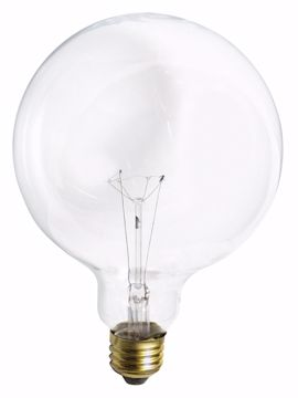 Picture of SATCO S3013 100W G-40 CLEAR Incandescent Light Bulb