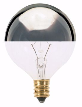 Picture of SATCO S3244 25W G16 1/2 SILVER CROWN Incandescent Light Bulb