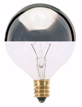 Picture of SATCO S3245 40W G16 1/2 HALF CHROME/Clear Incandescent Light Bulb