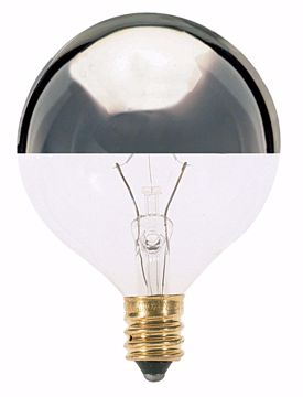 Picture of SATCO S3246 60W G16 1/2 HALF CHROME/Clear Incandescent Light Bulb