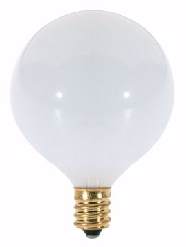 Picture of SATCO S3260 25W G16 1/2 CAND GLOSSY WHITE Incandescent Light Bulb