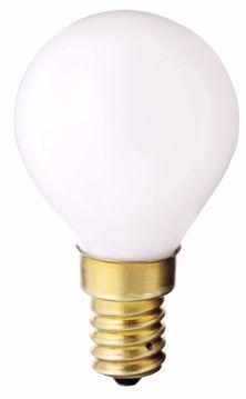 Picture of SATCO S3398 40W G-14 WHITE E-14 130V Incandescent Light Bulb