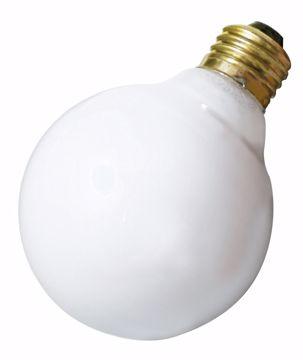 Picture of SATCO S3440 25W G25 Standard WHT Incandescent Light Bulb
