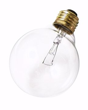 Picture of SATCO S3651 25W G-30 CLEAR MED BASE Incandescent Light Bulb