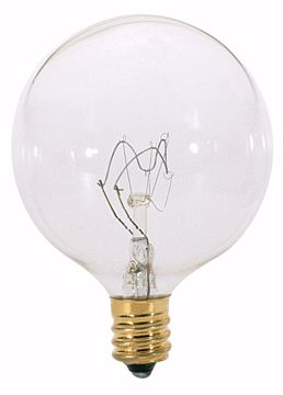 Picture of SATCO S3726 15W G16 1/2 CAND CLEAR Incandescent Light Bulb