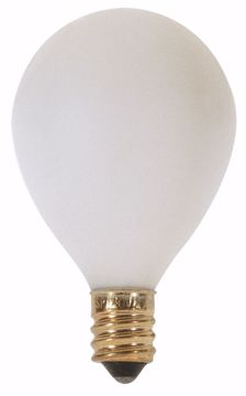 """Picture of SATCO S3751 25W G12 1/2"""" CAND WHT Incandescent Light Bulb"""