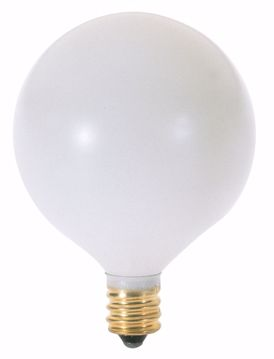 Picture of SATCO S3754 40W G16 1/2 CAND WHT Incandescent Light Bulb