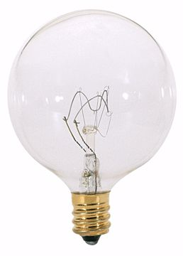 Picture of SATCO S3771 60W G16 1/2 CAND Clear CARDED Incandescent Light Bulb