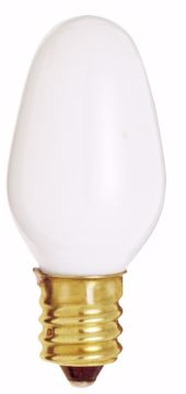 Picture of SATCO S3792 7W C7 CAND WHT Incandescent Light Bulb