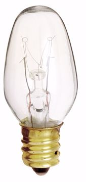 Picture of SATCO S3797 4C7 CAND CL Incandescent Light Bulb