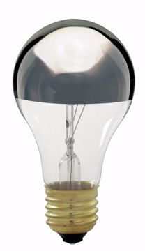 Picture of SATCO S3956 100A19 CHROME TOP Incandescent Light Bulb