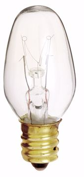 Picture of SATCO S4724 4C7 CAND CLEAR 120V 4/CD Incandescent Light Bulb