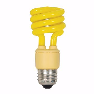 Picture of SATCO S5511 13T2/E26/BUG/120V/1BL YELLOW Compact Fluorescent Light Bulb