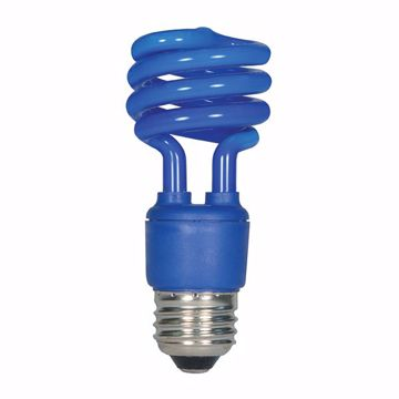 Picture of SATCO S5514 13T2/E26/BLUE/120V/1BL Compact Fluorescent Light Bulb